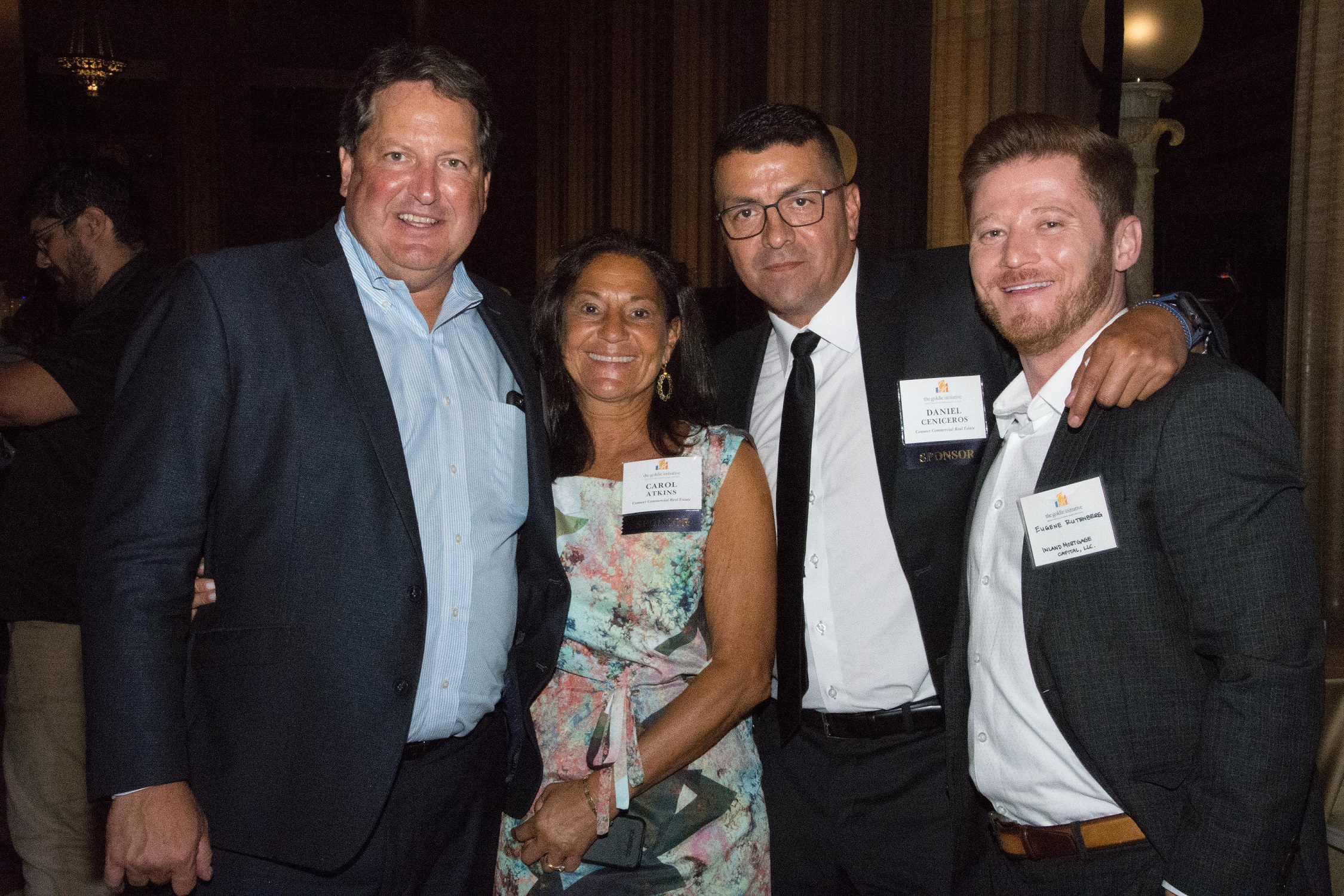 Art Rendak and Eugene Rutenberg attended the 2019 Goldie Gala celebrating women leaders in the real estate industry.