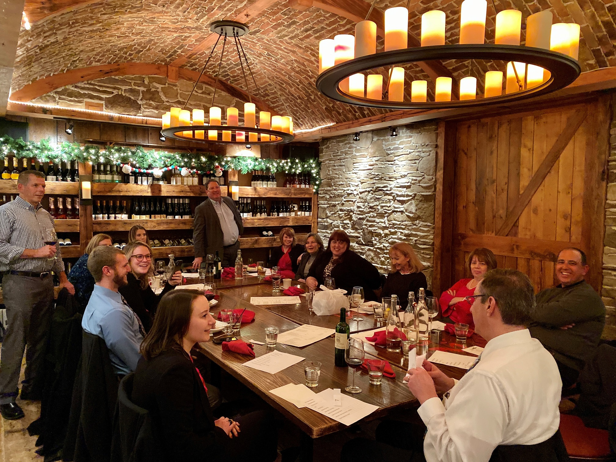 The whole IMC team had a great time celebrating its 2019 Holiday Party at Davanti Enoteca!