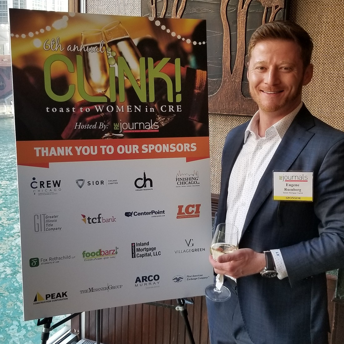 In celebration of the women in real estate, Eugene Rutenberg attended the 6th Annual CLINK Toast to Women networking event, held at Smith & Wollensky in downtown Chicago.
