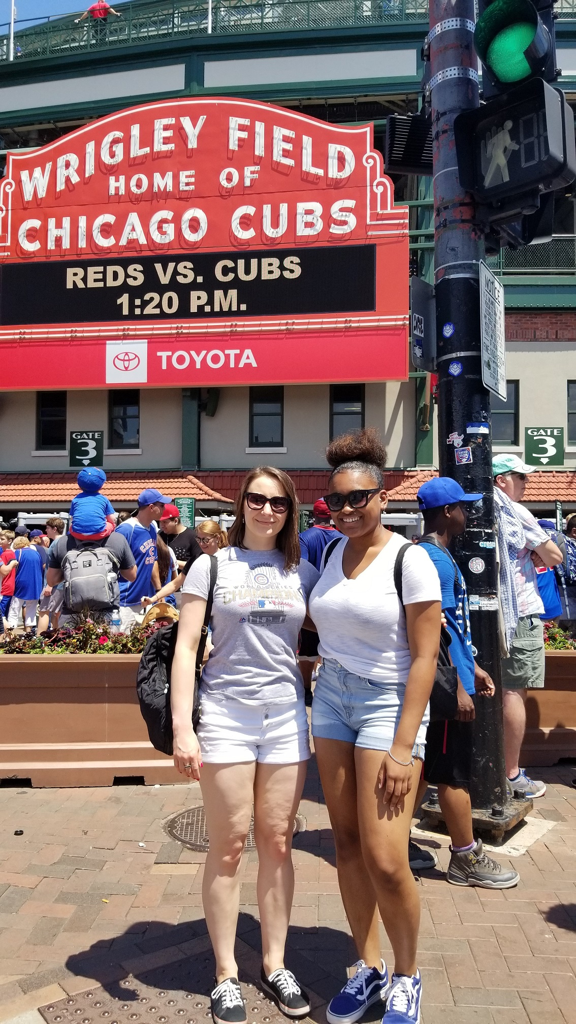Anna Kuta and All Starts Project intern, Alexis Cannon enjoyed a beautiful day at Wrigley Field, watching the Cubs play during a 2019 summer group outing.