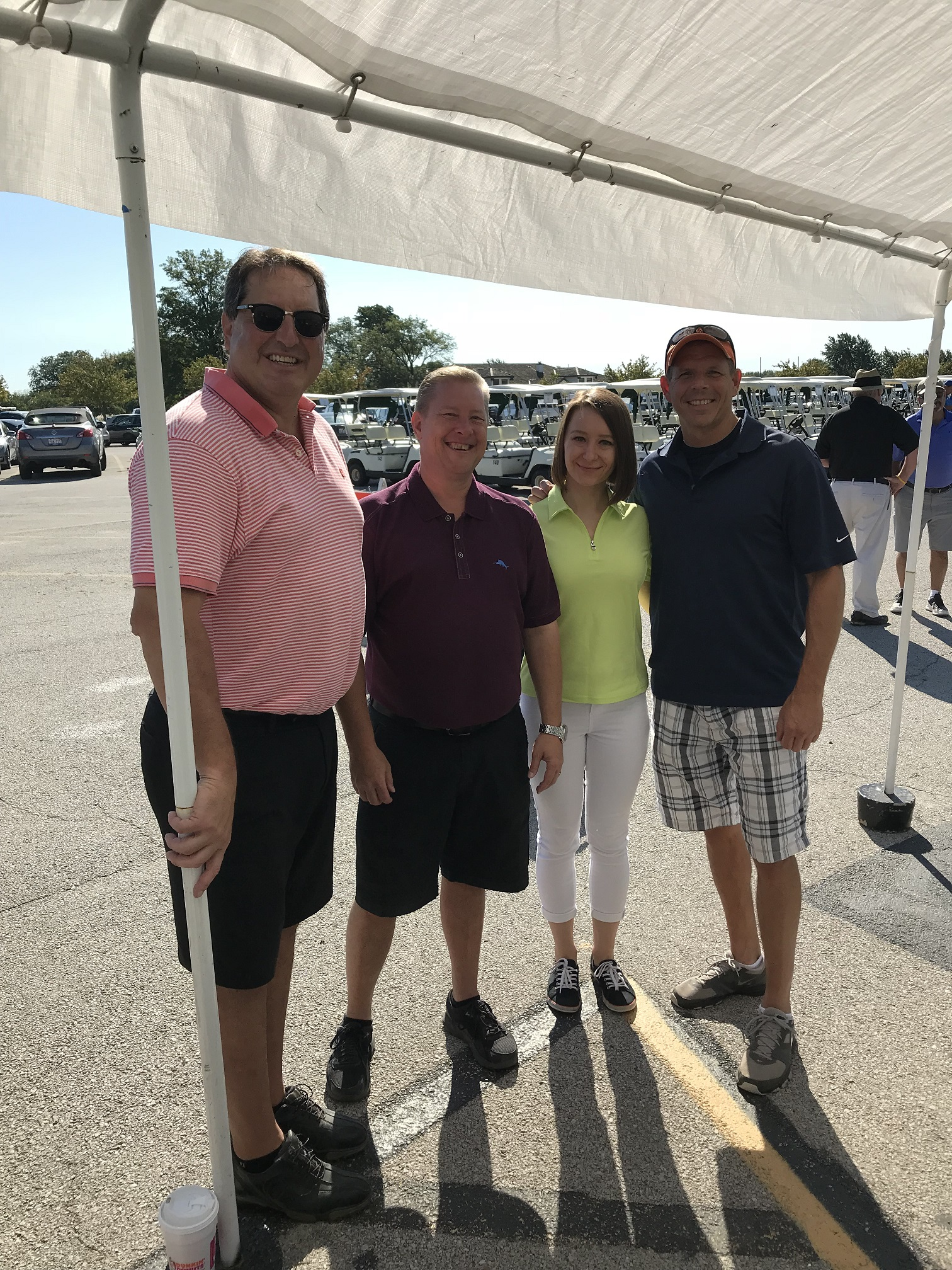 Art Rendak, Kevin, Baradziej, and Anna Kuta participated in the 2018 Local 1546 UFCW Leukemia Fund golf tournament.